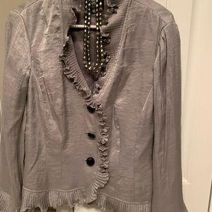 Ladies silver blazer